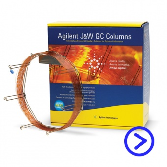 КАПИЛЛЯРНАЯ КОЛОНКА AGILENT J&W DB-1ms Ultra Inert GC Column, 30 m, 0.25 mm, 0.25 µm, 7 inch cage